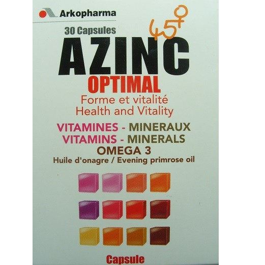 Azinc Ménopause optimal (30 capsules)