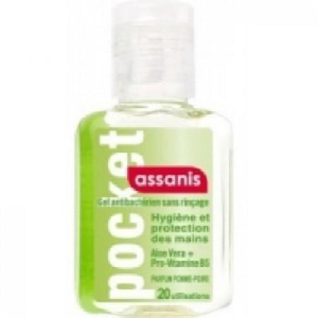 Assanis Pocket Pomme Poire Gel Antibacterien Aloé vera + Pro-vitamine B5 sans Rinçage 20ml