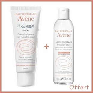 Offre Avène Hydrance Optimale Riche Crème Hydratante 40ml + Lotion micellaire 100ml Offert