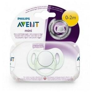 Philips Avent 1 Mini sucette SCF151/00 0-2m pour Nouveau Né ou Prématuré