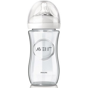 Avent Biberon Natural en Verre anti-colique 1M+ 240 ml