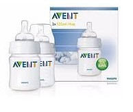 Avent Lot de 2 biberons sans BPA (125 ml)