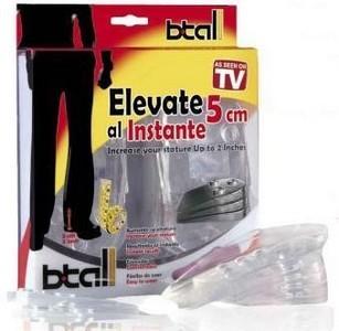 B.Tall Semelles Chaussures pour Grandir - Invisibles - Jusqu'à 5cm de taille en plus !