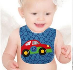 Baby bib voiture bavoir en plastique waterproof bleu