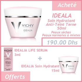 Vichy Idéalia Soin Jour Pot 50ml + Life Serum + Soin Hydratant