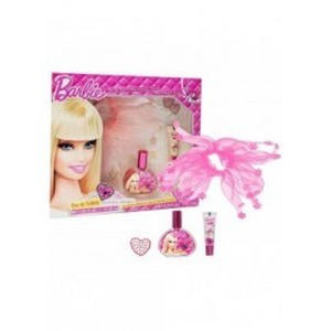 Air-Val Barbie Set Eau de toilette 30ml + Bandeau de cheveux + Gloss + Tatto Réf : 5762