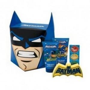 Air-Val Batman Bain Moussant 150ml + Shampooing et Démêlant 150ml + 3 Capsules Effervescentes pour le bain + Éponge Réf : 10117