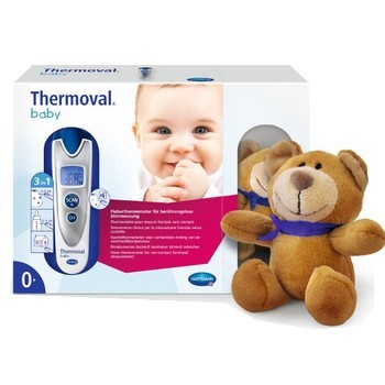 Thermoval Baby Thermomètre Sans Contact & Doudou