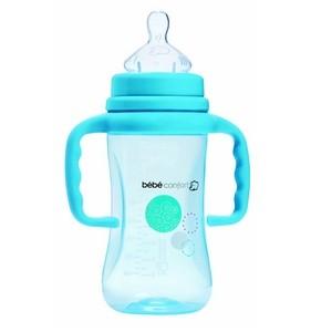 Bébé Confort Biberon Col Large Maternité PP avec Poignées - 30000930 - Bleu - 270 ml