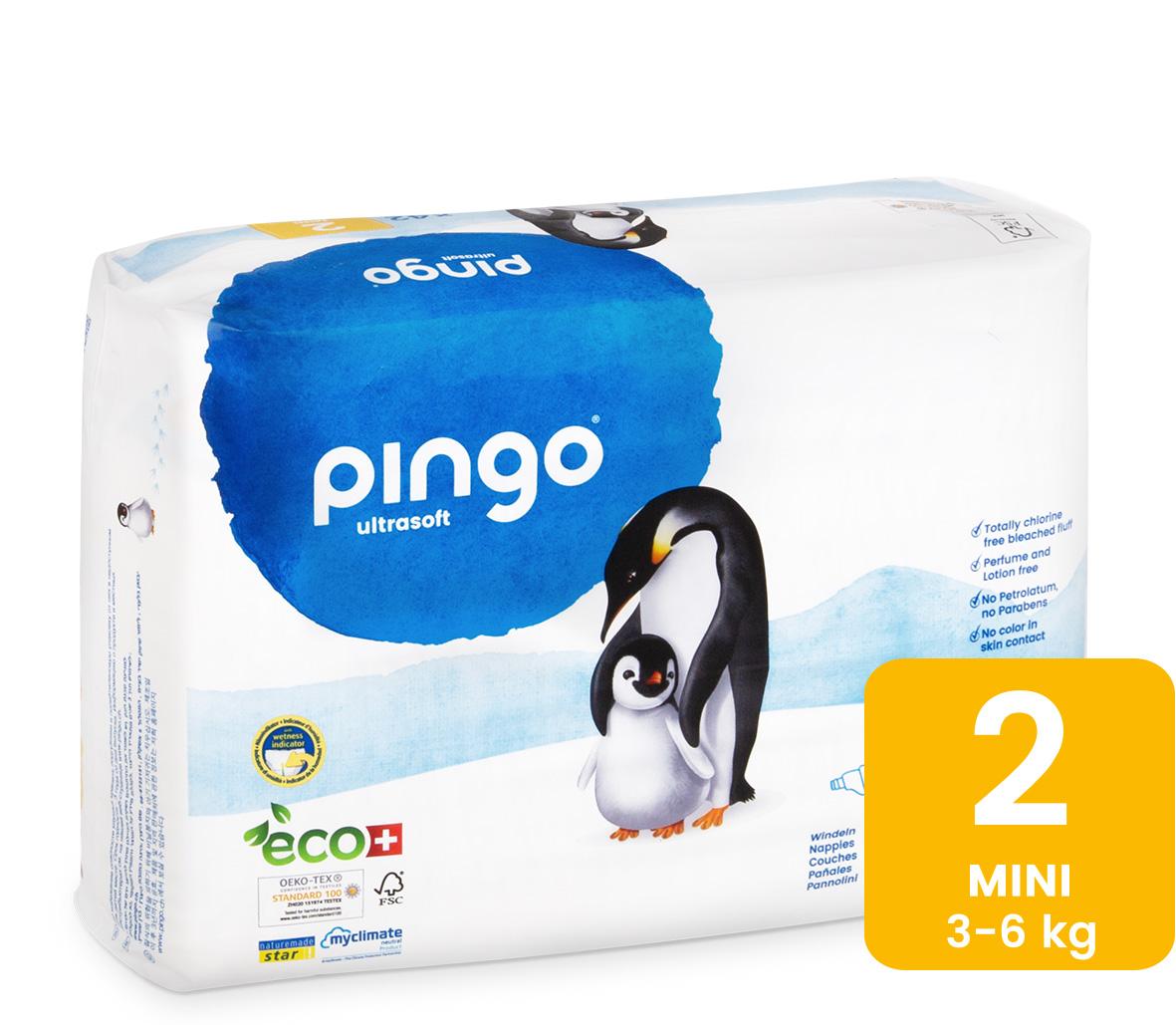 Pingo Couches Mini Taille 2 3-6kg/42pcs