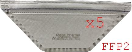 5 Masque respiratoire MacoPharma FFP2 EN149