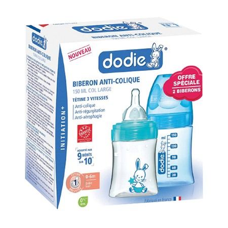 Dodie Coffret Biberon x2 Initiation+ 150ml Mixte