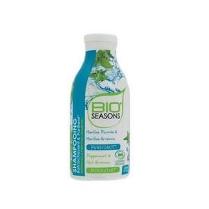 Bio Seasons Shampooing pour cheveux Gras Purifiant (Menthe Poivrée & Menthe Arvensis) 300ml