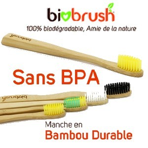 Biobrush Brosse à dent adulte 100% biodégradable