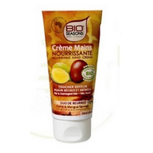 Bio Seasons Crème mains Duo de beurres karité & mangue 50 ml