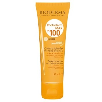bioderma photoderm max cr me teint claire spf100 40 ml parapharmacie au maroc. Black Bedroom Furniture Sets. Home Design Ideas