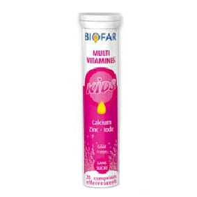 Biofar Multi-Vitamines Kids - Calcium - Zinc - Iode 20 Comp