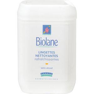 Biolane Boîtier 72 Lingettes nettoyantes rafraîchissantes
