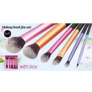 Real techniques Kit de Pinceaux maquillage Professionnel 6 PCS