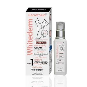 Carrot Sun Whitderm Crème de blanchiment pour corps 100ml (Crème blanchissante seulement en 1 minute)