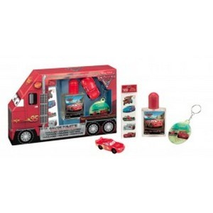 Air-Val Cars Set Eau de Toilette 50ml + Porte-Clés + Tatouage + Figurine Réf : 5162