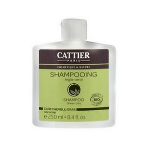 CATTIER Shampooing à l'Argile Verte - Cuir Chevelu Gras 250ml