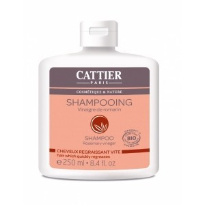CATTIER Shampooing Vinaigre/Romarin Cheveux regraissant vite 250ml