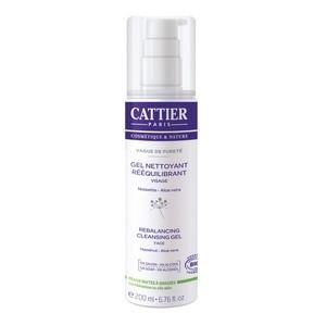 Cattier gel nettoyant rééquilibrant 0% alcool 200ml