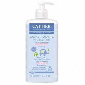 Cattier eau nettoyante micellaire visage et corps 500ml
