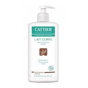 CATTIER Lait hydratant corps bio Adoucissant Coco Vanille 500ml