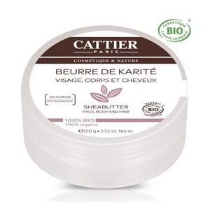 CATTIER Beurre de karité bio nature - visage, corps, cheveux 100g