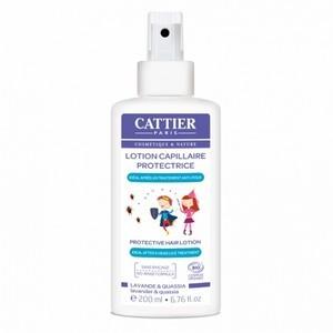 cattier lotion capillaire protectrice anti-poux sans rinçage 200ml