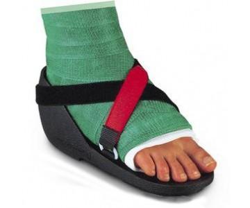 LR shoecast chaussure anatomique adaptée à un appareillage platré