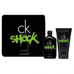 Coffret Calvin Klein Ck one shock for him, eau de toilette homme 100ml (Gel moussant corps et cheveux 100ml)