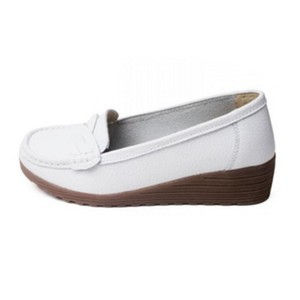 Confort line mocassins compensés femme blanc