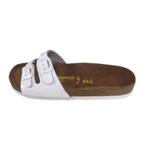 Confort line orthopedic sandales femme 2 boucles blanc