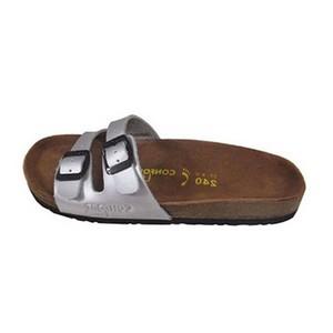 Confort line orthopedic sandales femme 2 boucles argent