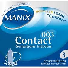MANIX Contact Boîte 3 préservatifs
