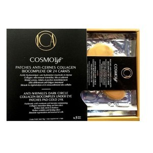 Cosmolift 5 Patches anti-cernes Collagen Biocomplexe or 24 carats