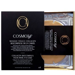 Cosmolift 4 Masques Visage Collagen Biocomplexe Or 24 Carats