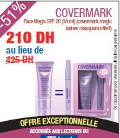 Promotion Covermark Face Magic SPF 20 (30 ml) (covermark magic lashes masquara Offert)