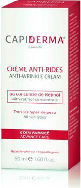 Capiderma crème anti-rides (50 ml) - Parapharmacie au Maroc