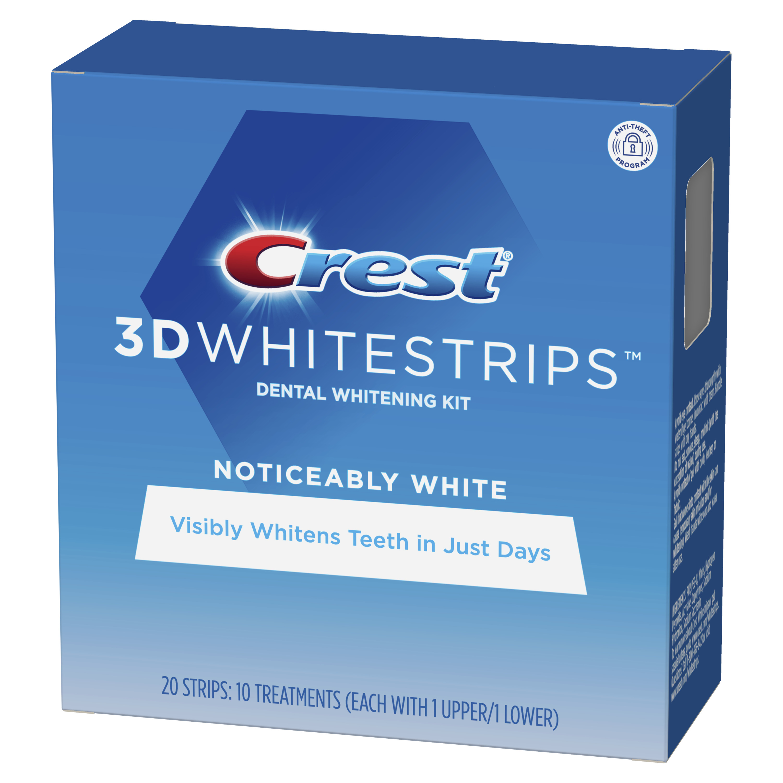 Crest whitestrips soin dentaire blanchissant noticeably white 20 strips