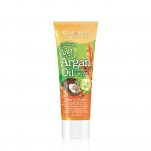 Eveline crème de jour concentré huile bio Argan + huile de pépins de raisin + Blé d'or