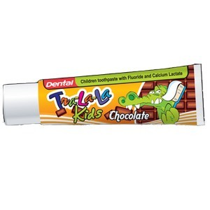 Dental kids tra-la-la dentifrice chocolat 50ml