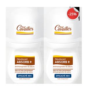 Rogé Cavaillès promotion lot de 2 déo absorb efficacité 48 heures, 2 ème à -25%