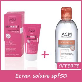Offre ACM Dépiwhite.S Ecran solaire spf50 50ml + Sensitélial 250ml Offerte