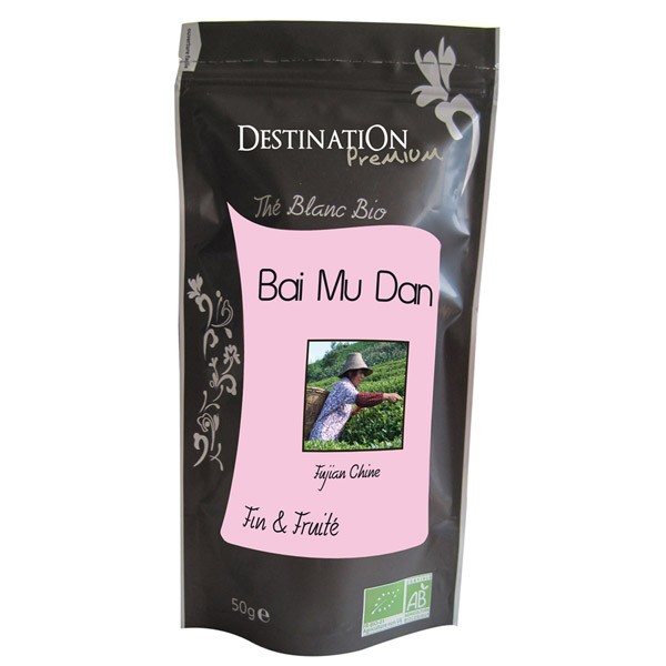 Destination the blanc bai mu dan chine bio 50g
