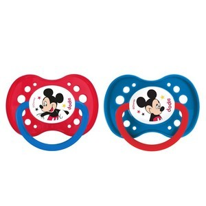 """dodie 1 Sucette +18 mois """"DUO MICKEY"""" silicone avec anneau N°A65"""