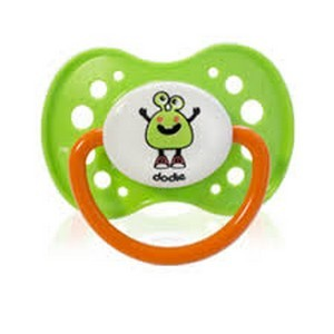 Dodie sucette anatomique silicone +18 fluo monstres A60